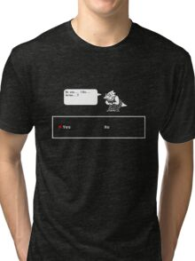 "Undertale - Alphys ""Do you like Anime? Yes/No"" Transparent shirt Tri-blend T-Shirt"