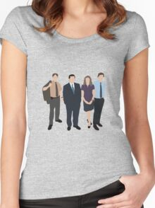 The Office US - Line Up Women's Fitted Scoop T-Shirt