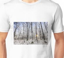 Sunrise Snow Forest Art Unisex T-Shirt