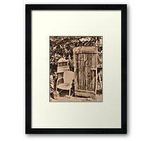 """""""OUTHOUSE AND NEXT IN LINE""""... prints and products Framed Print"""