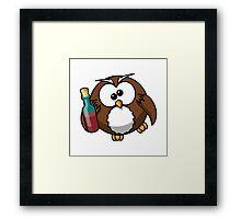 Drunk Owl Framed Print
