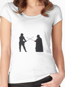 Star Wars - Duel Women's Fitted Scoop T-Shirt