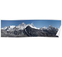 Everest Panorama Nepal Poster