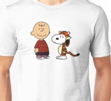 Charlie Brown and Snoopy as Calvin and Hobbes Unisex T-Shirt