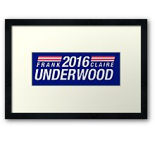 Frank and Clair Underwood 2016 Framed Print