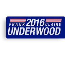 Frank and Clair Underwood 2016 Canvas Print