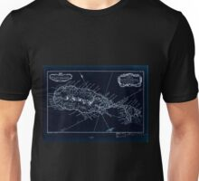 American Revolutionary War Era Maps 1750-1786 377 Carte de de sic l'Isle St Christophe Inverted Unisex T-Shirt