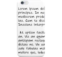 Lorem ipsum dolor sit amet soft hand letter style iphone case iPhone Case/Skin