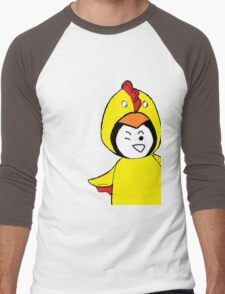 Pengychicken - a penguin in a chicken costume Men's Baseball ¾ T-Shirt
