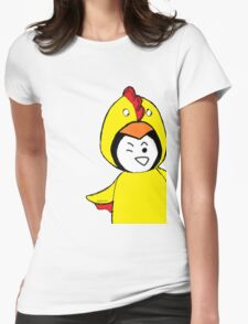 Pengychicken - a penguin in a chicken costume Womens Fitted T-Shirt