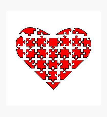 Heart Puzzle Photographic Print