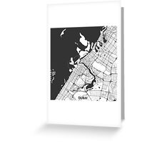 Dubai City Map Gray Greeting Card