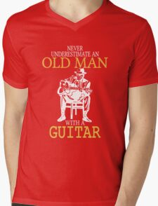 Never Underestimate An Old Man With A Guitar Degree T-Shirt