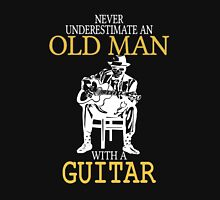 Never Underestimate An Old Man With A Guitar Degree Unisex T-Shirt