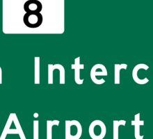 Houston George Bush Intercontinental Airport (IAH), Road Sign, Texas Sticker