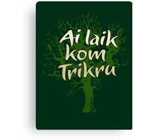Kom Trikru Canvas Print