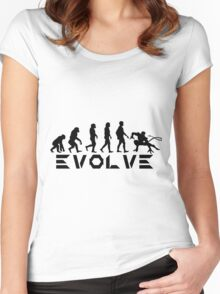 Evolution of X-Man - Nightcrawler Women's Fitted Scoop T-Shirt