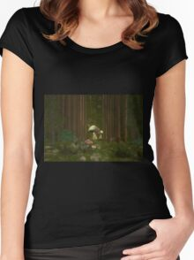 Fairy houses Women's Fitted Scoop T-Shirt