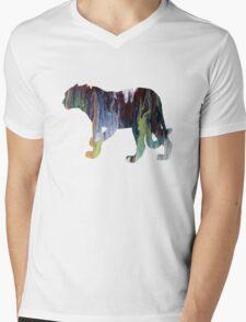 Jaguar  Mens V-Neck T-Shirt