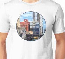 Chicago IL - Water Taxi Passing Under Lyric Opera Bridge Unisex T-Shirt