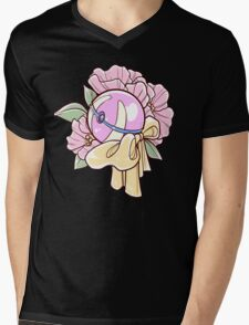 Floral Heal Ball Mens V-Neck T-Shirt