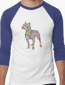 Pitbull Terrier, Easter Jellybeans Men's Baseball ¾ T-Shirt