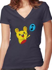 Loopy Singer Women's Fitted V-Neck T-Shirt