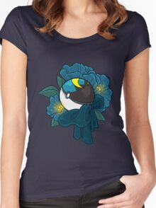 Floral Moon Ball Women's Fitted Scoop T-Shirt