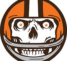 Die Hard Football Skull Icon by WeBleedOhio