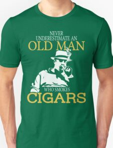 Never Underestimate An Old Man Who Smokes Cigars T-Shirt
