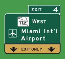 Miami International Airport (MIA), Road Sign, Florida Baby Tee