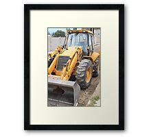 Construction Equipment Framed Print
