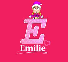 'E' is for Emilie! Womens Fitted T-Shirt