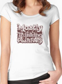 Think Positive Women's Fitted Scoop T-Shirt