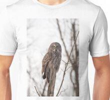 Great Grey Owl in winter Unisex T-Shirt