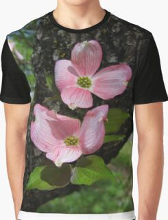 Pink Dogwood Blossoms Graphic T-Shirt
