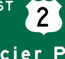 Glacier Park, Road Sign, US Route 2, Montana Sticker