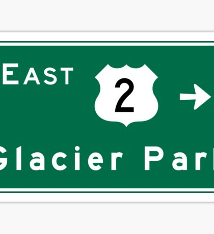 Glacier Park, Road Sign, US Route 2, Montana Sticker
