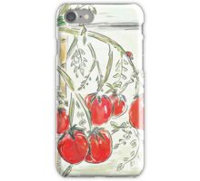 """Tomato Digital Painting (""""In the Greenhouse"""") iPhone Case/Skin"""