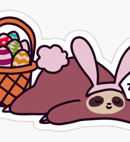 Easter Bunny Sloth Sticker