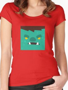 Cartoon Orc Face (Game) Women's Fitted Scoop T-Shirt