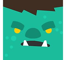 Cartoon Orc Face (Game) Photographic Print