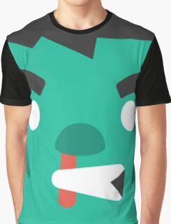 Cartoon Zombie Face (Game) Graphic T-Shirt