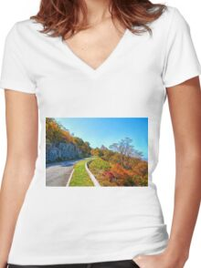 Blue Ridge Drive Women's Fitted V-Neck T-Shirt