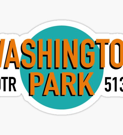 Washington Park, OTR, Cincinnati  Sticker