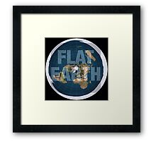 Flat earth,boom,reality check, Framed Print
