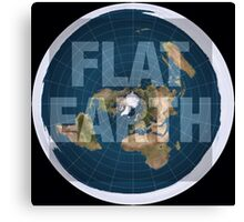 Flat earth,boom,reality check, Canvas Print
