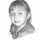 little girl w/earring drawing by Mike Theuer