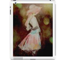 Girl with bih hat iPad Case/Skin