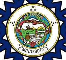 Minnesota flag snowflake Sticker